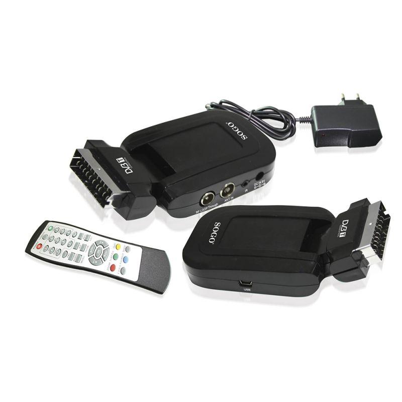 MINI DECODIFICADOR TDT - EUROCONECTOR + RF + USB - 180º